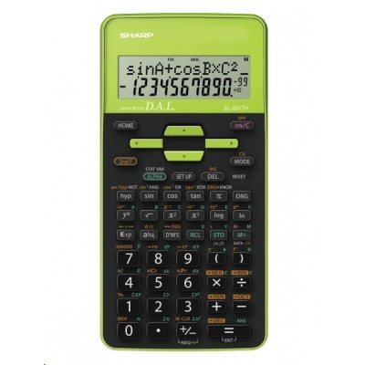 SHARP kalkulačka - EL531THBGR - zelená - blister