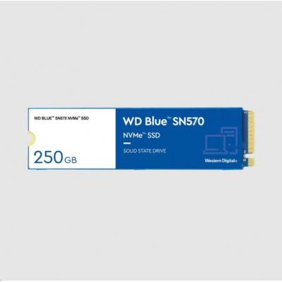 WD BLUE SSD NVMe 250GB PCIe SN 570, Gen3 8 Gb/s, (R:3300, W:1200MB/s)