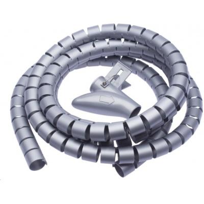 CONNECT IT trubice pro vedení kabelů WINDER, 2,5m x 20mm šedá (organizér kabelů)