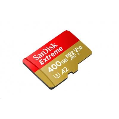 SanDisk MicroSDXC karta 400GB Extreme (R:160/W:90 MB/s, A2 C10 V30 UHS-I) + adaptér