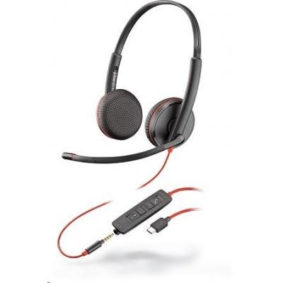 POLY náhlavní souprava BLACKWIRE 3225, USB-C, 3,5 mm jack, stereo