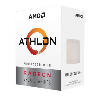 CPU AMD Athlon 3000G, 2-core, 3.5GHz, 5MB cache, 35W, socket AM4, VGA Radeon Vega 3, BOX