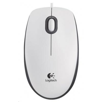 Logitech Mouse M100, white