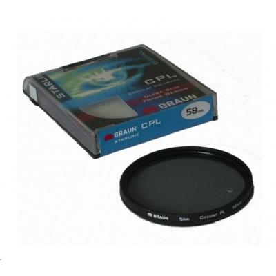 Braun filtr C-PL StarLine 55 mm