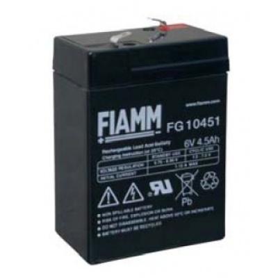 Baterie - Fiamm FG10451 (6V/4,5Ah - Faston 187), životnost 5let
