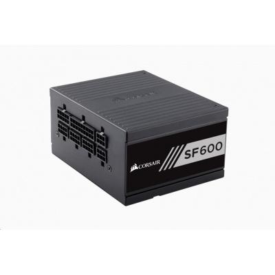 CORSAIR zdroj, SF600-80 PLUS® Gold Certified High Performance PSU (SFX, 600W, Modular)