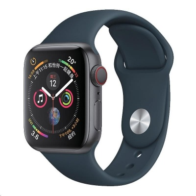 COTEetCI silikonový sportovní náramek pro Apple watch 42 / 44 mm tmavě zelený