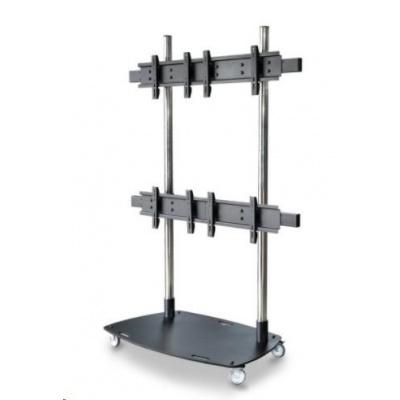 """Pojízdný stojan na 4 TV 37""""-55"""" s nosností 160kg, EDBAK TR6-22"""