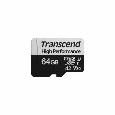TRANSCEND MicroSDXC karta 64GB 330S, UHS-I U3 A2 + adaptér