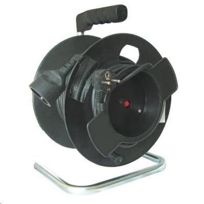 Solight prodlužovací přívod na bubnu, 1 zásuvka, černý, 25m