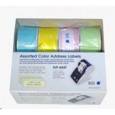 Seiko adresní štítky - různobarevné, 28x89mm 130ks/role