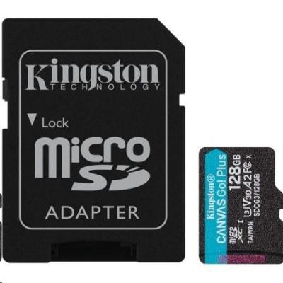Kingston 128GB microSDXC Canvas Go Plus 170R A2 U3 V30 Card + ADP