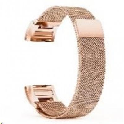 eses milánský tah růžově zlatý pro Fitbit Charge 3