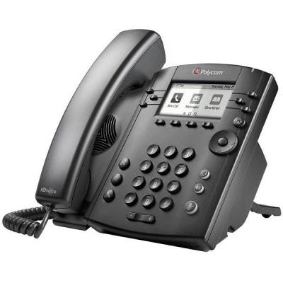 Polycom IP telefon VVX 301, 6 linkový, 2x 10/100, HD Voice, PoE, bez napájecího zdroje