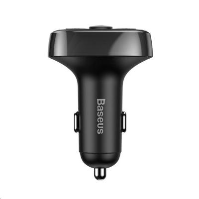 Baseus T-Typed duální adaptér do automobilu 2* USB-A a MP3 přehrávač, černá