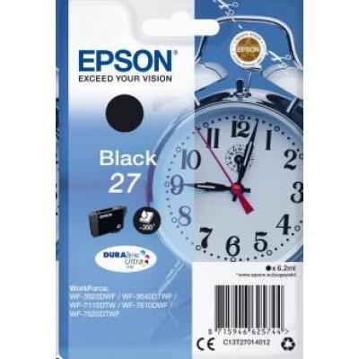 "EPSON ink čer Singlepack ""Budík"" Black 27 DURABrite Ultra Ink"