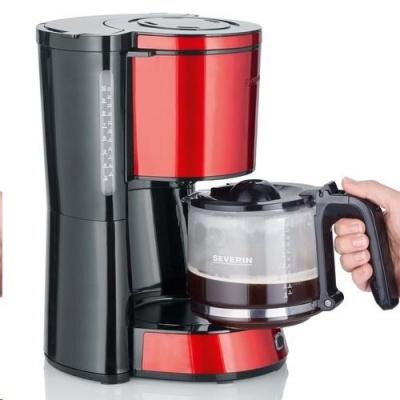 SEVERIN KA 4817 kávovar nerez červený