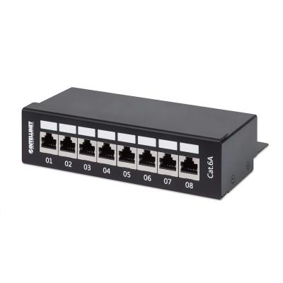 Intellinet Patch panel 8 port Cat6A, tienený FTP, čierny, stolný