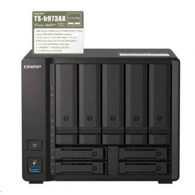 QNAP TS-h973AX-32G (4C/Ryzen7 V1500B/2,2GHz/32GBRAM/9xSATA/2x2,5GbE/1x10GbE/4xUSB3.1)
