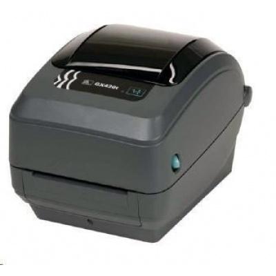 Zebra TT tlačiareň GX420t, 203dpi, EPL2, ZPL II, USB, RS232, LAN, rezačka - LINER, TAG