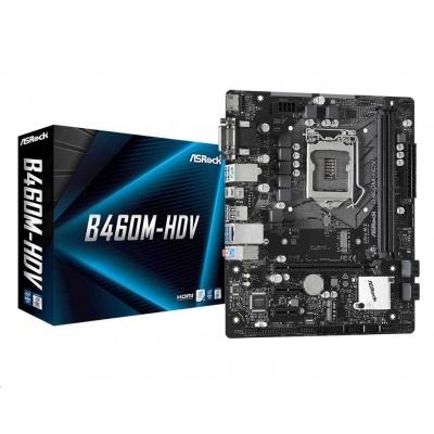 ASRock MB Sc LGA1200 B460M-HDV, Intel B460, 2xDDR4, VGA, mATX