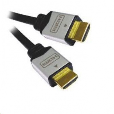 PREMIUMCORD Kabel HDMI A - HDMI A M/M 1m zlacené a kovové HQ konektory