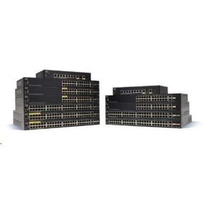 Cisco switch SF350-24MP-RF, 24x10/100, 2xSFP, 2xGbE SFP/RJ-45, PoE, REFRESH