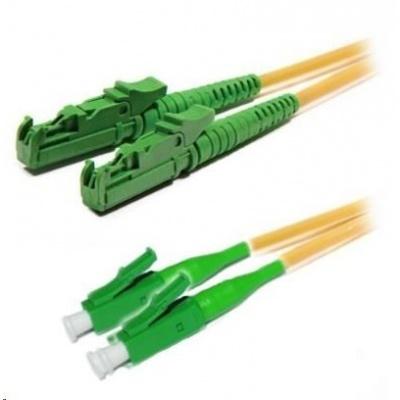 Duplexní patch kabel SM 9/125, OS2, E2000(APC)-LC(APC), LS0H, 3m
