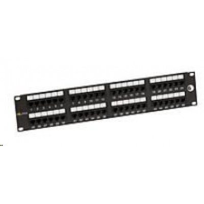 Solarix Patch panel 48 x RJ45 CAT6 UTP 350 MHz černý 2U SX48-6-UTP-BK