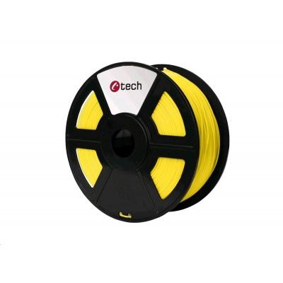 C-TECH Tisková struna (filament) HIPS, 1,75mm, 1kg, žlutá