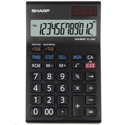 SHARP kalkulačka - EL128SWH - gift box
