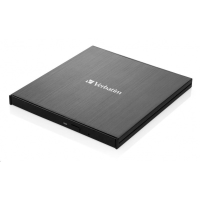 VERBATIM externí mechanika Ultra HD 4K Blu-ray External Slimline Writer (USB 3.1, USB-C) + zdarma 25GB MDISC