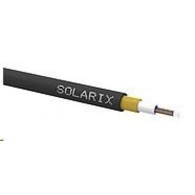 Solarix Zafukovací kabel MINI Solarix 8vl 9/125 HDPE Fca černý SXKO-MINI-8-OS-HDPE, cívka 1 km