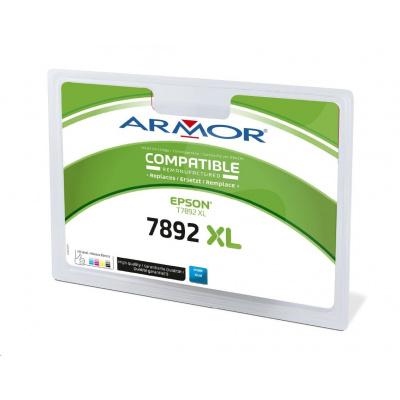 ARMOR ink-jet pre EPSON WorkForce Pro WF-5110, 5190, 5620, 5690, 4000 strán, T789240, modrá/cyan (89XXL)