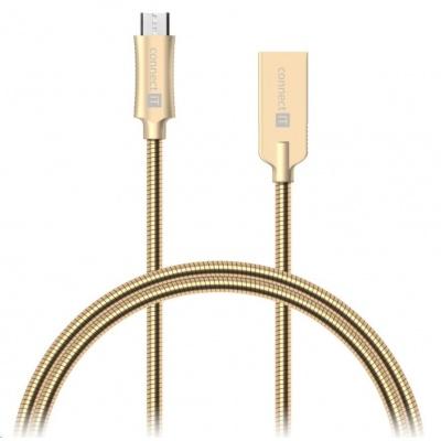 CONNECT IT Wirez Steel Knight Micro USB - USB, metallic gold, 1 m