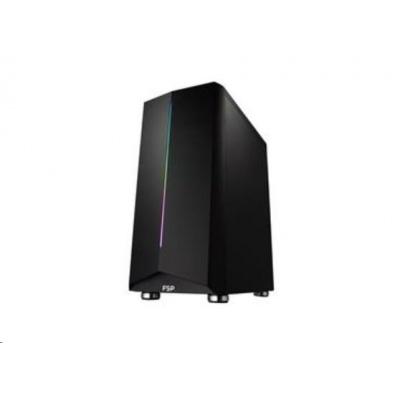 Fortron skříň Midi Tower CMT150 Black, průhledná bočnice