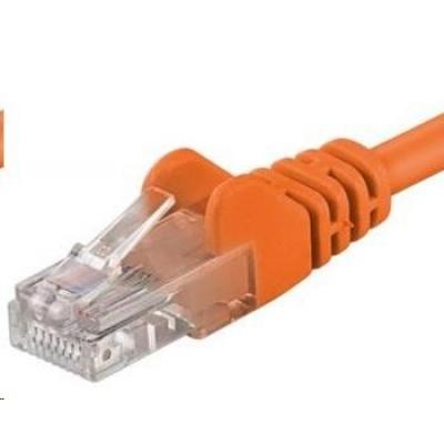 PREMIUMCORD Patch kabel UTP RJ45-RJ45 CAT5e 10m oranžová