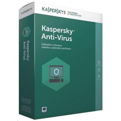 Kaspersky Anti-Virus 2019 CZ, 1PC, 2 roky, nová licence, elektronicky
